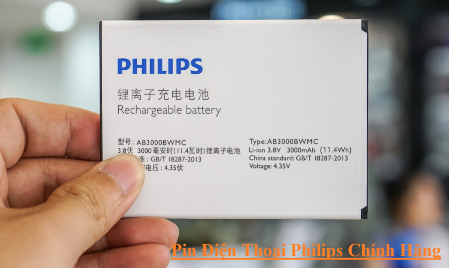Pin Philips Chinh Hang