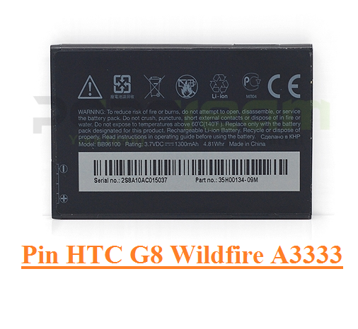 Pin HTC BB96100 G8 Wildfire A3333