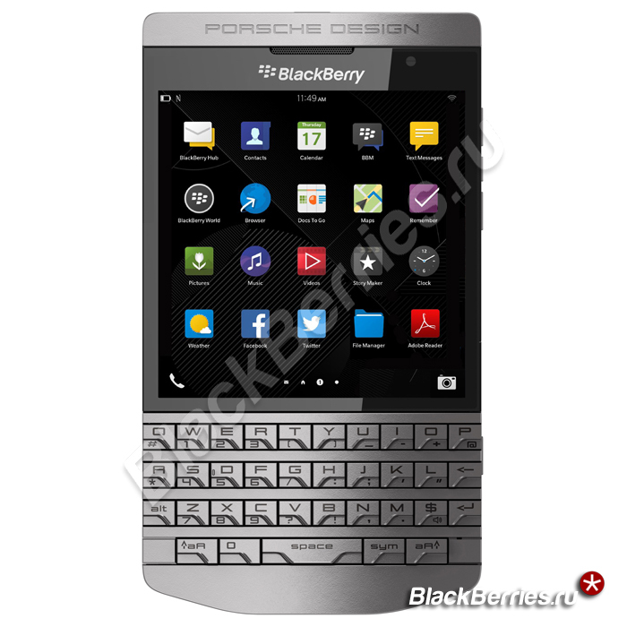 ỐP LƯNG BlackBerry Porsche Design P9983