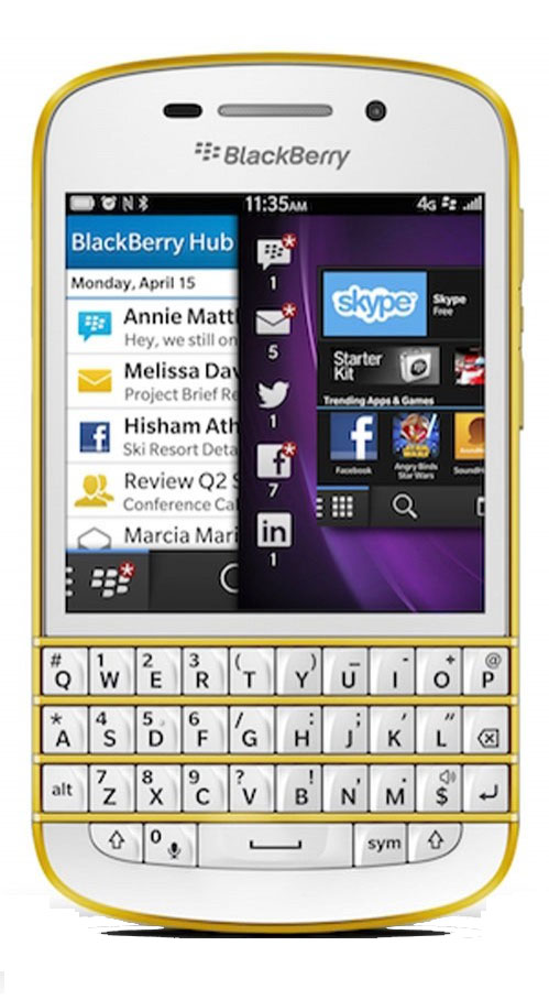 BlackBerry Q10 Vàng Gold